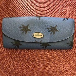 Coach Wallet-Star Canyon Blue